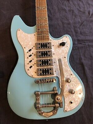 Hutchins Doodlebug Electric Blue - Four Pickups - Tremolo -Tone Switch