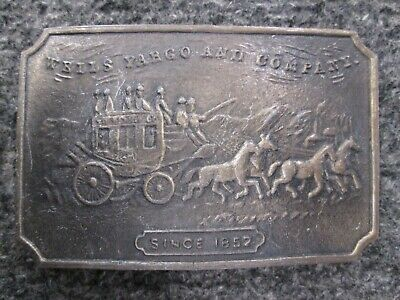 Vintage Wells Fargo And Company Belt Buckle, Free Shipping.