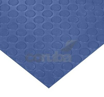 Big Button PVC Coin Rubber Flooring - 2mm Thick - 2.0m EXTRA WIDE