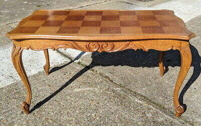 Louis XV Style French Carved Oak Coffee Table
