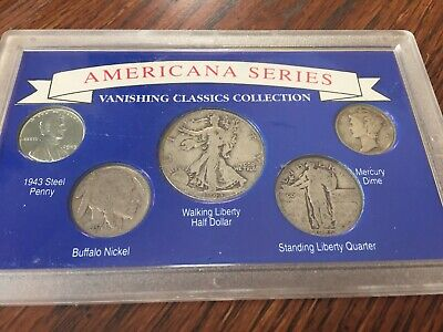 Americana Series Vanishing Classics Collection Silver Half Dollar,Quarter & Dime
