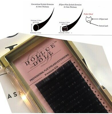 Dollce Doll FLAT Ellipse Softest Silk Matte Lashes Lightest Eyelash Extensions