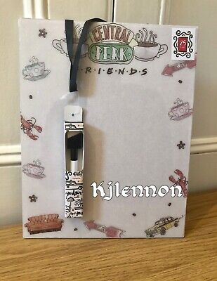 Friends The TV Show 25th Anniversary Central Perk Glitter Memo Whiteboard & Pen