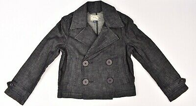 POLO RALPH LAUREN Girls' Double Breasted Coat / Jacket, Denim Blue, 10 years