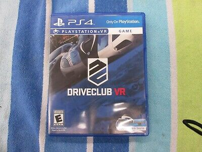 DriveClub VR PS4 Game (NTSC U/C) Excellent condition!!!