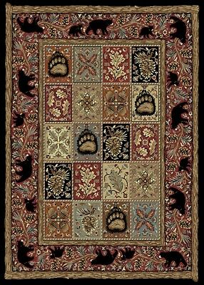 Area Rug Mayberry American Destinations Master Lodge Ebony 5 By 8