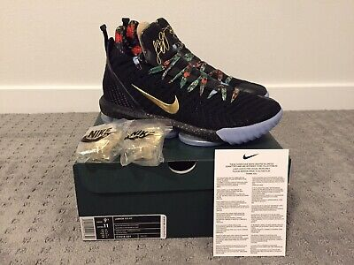 67ec745bfaa Nike Lebron XVI 16 KC Watch the Throne WTT Black Gold CI1518-001 Size 9.5