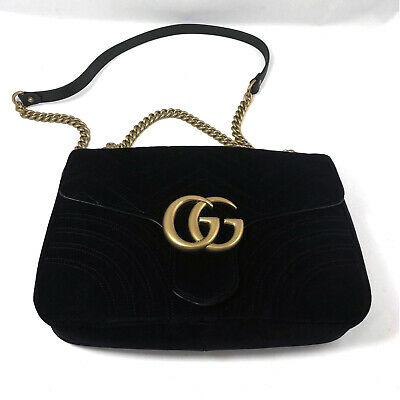3528a3c99 GUCCI GG MARMONT velvet mini bag in Black chevron velvet with heart ...