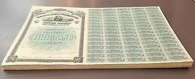 $1000 Gold Bond 1883 Lacrosse Iowa South Western Railway Ia Mn Mo W/ All Coupons