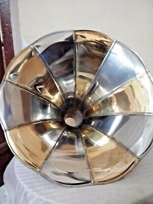 GRAMOPHONE PHONOGRAPH BRASS HORN Double Tone Lamp Shade Home Decor