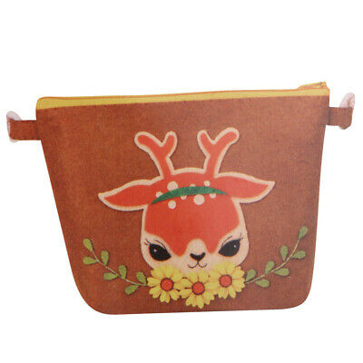 Deer Design Coin Zipper Purse Felt Craft Kits DIY Felt Craft for Kids Girls