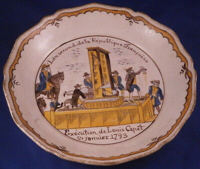 Antique 18thC French Faience Revolution Bowl Dish Plate Assiette France Fayence