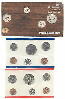 1985 P & D US Uncirculated Mint Sets 10 Coins in Original Mint Package