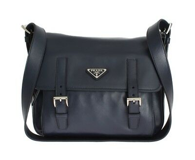 44a6b1781ded PRADA Authentic 100% Calf Leather Soft Calf BT953K ASK F0216 - Baltic Blue