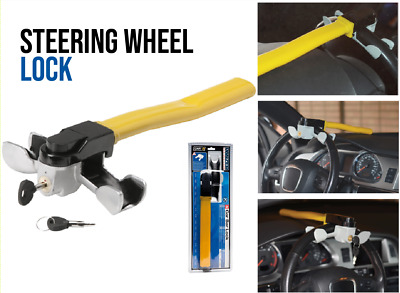 Steering Wheel Lock T Bar Anti-Theft Security Car Auto Tool Universal Fit