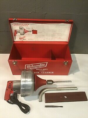 Milwaukee Heavy Duty Electric Drain Snake Cleaner 0566-1 0576-1 in Case + Extras