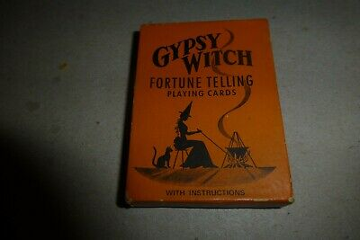 Gypsy Witch Fortune Telling Playing Cards vintage set in box/53 cards/USA