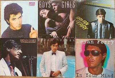 Bryan Ferry (Roxy Music) Job Lot Of 6 Original 1st Press Vinyl Records