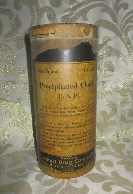 Old RARE Precipitated Chalk, REXALL Drug, PURETEST Container, Dental Powder, Tin