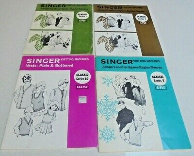 Singer Knitting Machine Pattern Books Choose a book -Vests, Jumpers, Cardigans