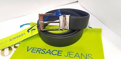New Cintura Uomo In Vera Pelle Casual/elegant/sport Versace Jeans Made In Italy