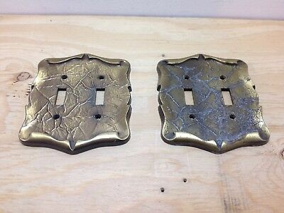 2 Vintage Amerock Carriage House Series Double Swtch Cover Plate