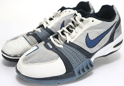 dcacbd98d9137 NIKE AIR MEN S Edge Trainer  110 Training Shoes Size 12 White Blue ...