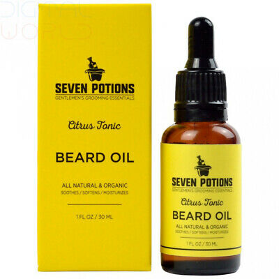 Beard Jojoba Oil 30ml All Natural Organic Vegan A Citrus Scented Conditioning