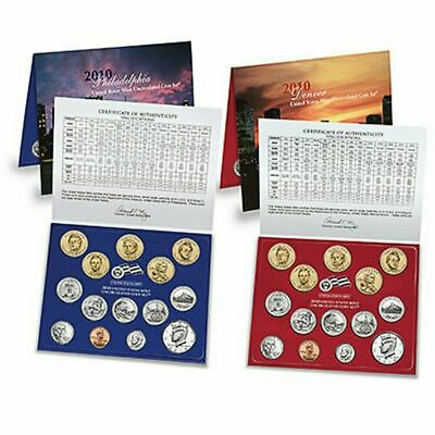 2010 United States Mint Uncirculated Coin Set (U10) 2 cards included USA