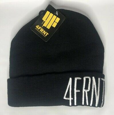 dddefd02 NEW 4FRNT Skis Knit Embroidered Logo Winter Marvin Beanie Hat Black or Red  Adult
