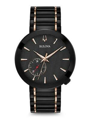 Bulova Latin Grammy Edition Black Dial Two-Tone Mens Watch 98A188 Missing Links