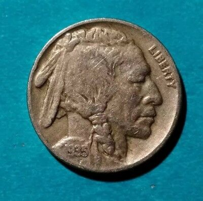 1935 Buffalo Nickel Philadelphia  Usa Us Five 5 Cents Silver Indian