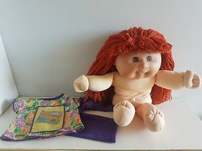 Mattel First Edition CABBAGE PATCH KID 1988 - Red Hair, Brown Eyes, Clothing