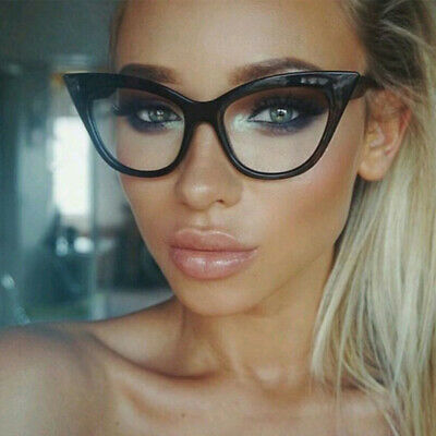 f317663cbd Retro Sexy Women Eyeglasses Frame Fashion Cat Eye Clear Lens ladies Eye  Glasses