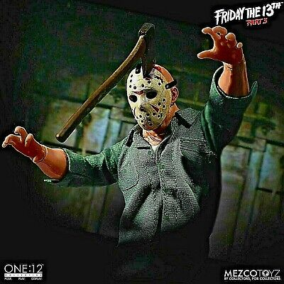 Mezco Toys One:12 Friday The 13th Part 3 Jason Voorhees Action Figure Knife NEW
