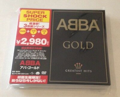 """Abba """"gold: Greatest Hits"""" Japan 2Cd+Dvd Uicy-9645 2007 *sealed*"""