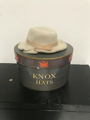 Vintage Miniature Felt Hat ~ Salesman Sample ~ Knox New York ~ Original Box