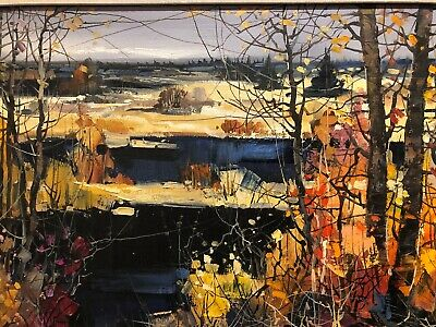 Chan Tin Yan  - F.c.a.-Landscape Oil Painting On Canvas