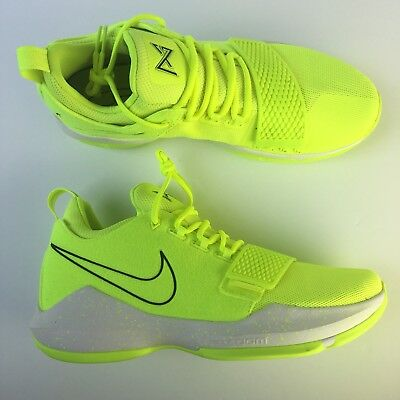 1c92dcc6b23 NIKE PG 1 Volt Tennis Ball Paul George Shoes 878627-700 Mens Size 10 ...