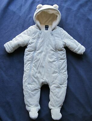 9b3bb2a2 GAP BABY GIRLS Boys Bear Fleece Hoodie Snowsuit Coat Jacket 3 6 months