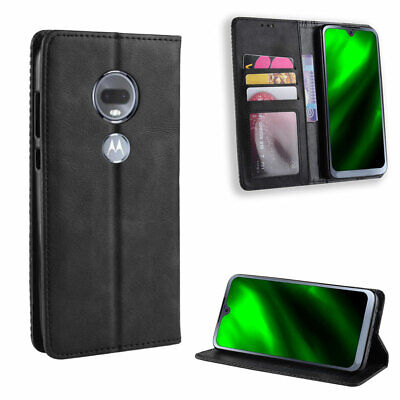 Magnetic Flip Leather Wallet Case Cover For Motorola Moto G7/Plus/Play/Power,