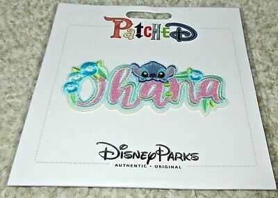 Disney Parks Patched Stitch Ohana Cute Lilo Adhesive Patch - NEW