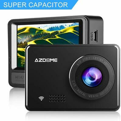 1080P Super Capacitor Dash Cam - AZDOME 2.45 Inch Car Cam with WiFi, Sony...