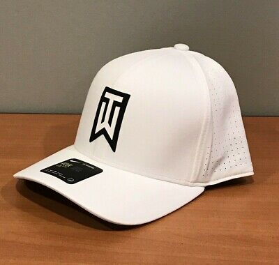 7617dc00ee90e Nike TW Tiger Woods Aerobill Classic 99 Fitted Golf Hat White Black L XL