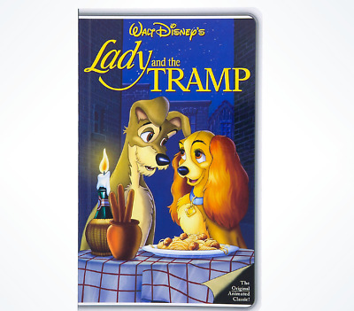Disney Parks Lady and the Tramp VHS Case Tape Notebook Journal Diary - NEW