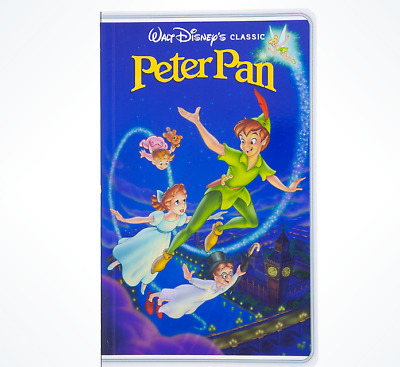 Disney Parks Peter Pan VHS Case Tape Notebook Journal Diary - NEW
