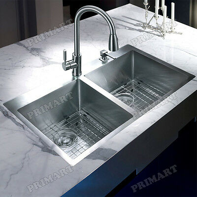 Primart 33 x 22 Inch Top mount kitchen sinks Stainless Steel Mount Over Sinks