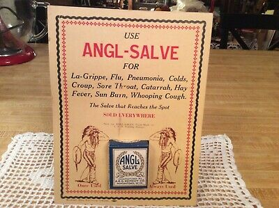 "Vintage Apothecary Store Display, ""Angl-Salv"", with empty box, Quack Medicine!"
