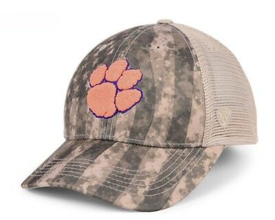 09c68418 Brand New Clemson Tigers Top of the World Camo Nation Hat Cap Adjustable