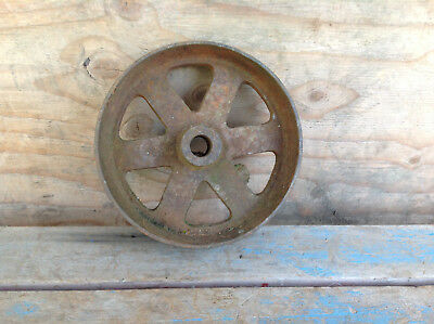 Very Cool Antique Machine Flat Belt Pulley